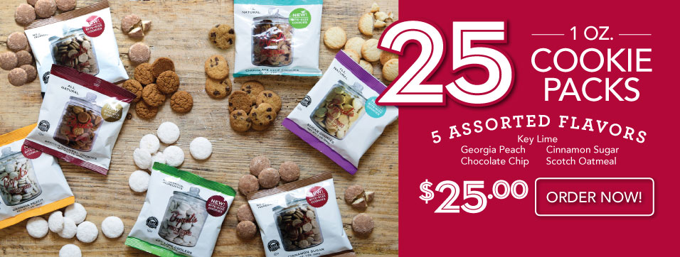 New 25 Assorted Cookie Snack Packs for $25!