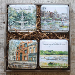 Savannah Scenes 4-tin set in Gift Tray