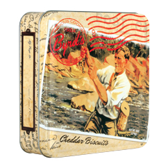 Travel Postcard 6oz Tin - Cheddar Pecan Biscuits