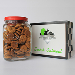 Fresh Cookies Glass Jar with Cookies