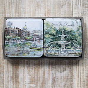 Savannah Scenes Tins in Gift Tray