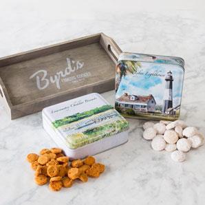 Coastal Scenes Tins Cookies Gift Tray