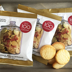 100 Calorie Almond Shortbread Cookie Snack Pack 30 ct.
