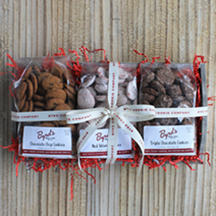 Bakery Bag Cookie Tray - Red Velvet, Chocolate Chip, Triple Chocolate