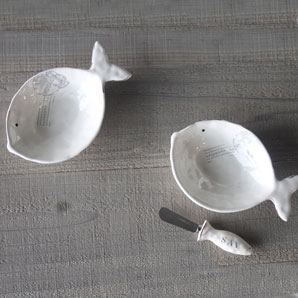 Ceramic Fish Bowl and Spreader - SAVANNAH Fish Spreader