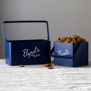 Byrd's Powdercoat Metal Caddy with 1lb of Cookies