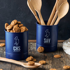 Byrd's Powder Coated Utensil Holder with 1lb of Cookies SAV