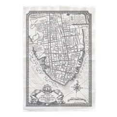 Charleston Map Tea Towel