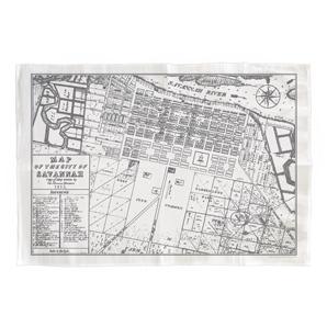 Savannah Map Tea Towel