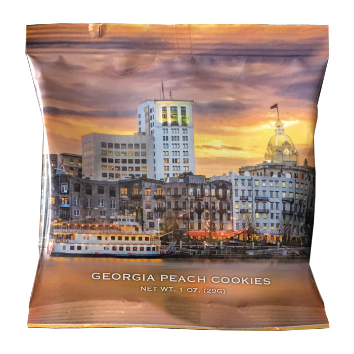 Georgia peach cookie Savannah skyline snack pack