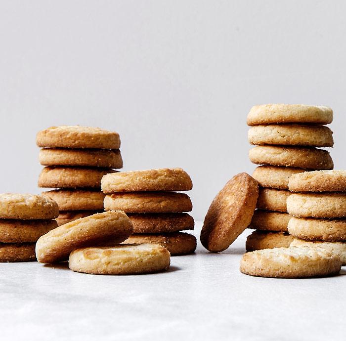 almond shortbread in stacks