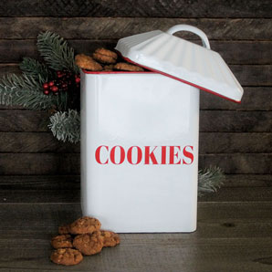 Enamelware Cookie Canister