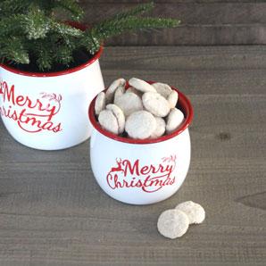 Enamelware Christmas Kettles