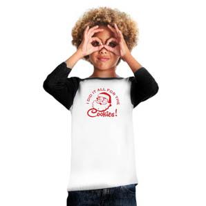 Kids Santa Raglan T-shirt