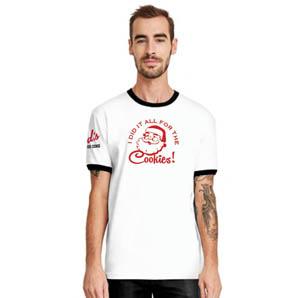Santa Ringer T-shirt