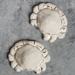 Ceramic Crab Paperweights Set of 2