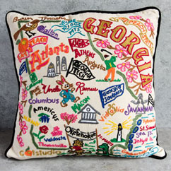 Georgia Hand Stitched Pillow