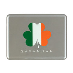 Saint Patricks Day Irish Flag Clover Tin