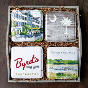 Charleston Scenes 4-tin set in Gift Tray