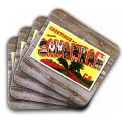 Savannah Postcard Coasters Set of 4