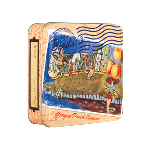 Travel Postcard 6 oz Tin - Georgia Peach Cookies